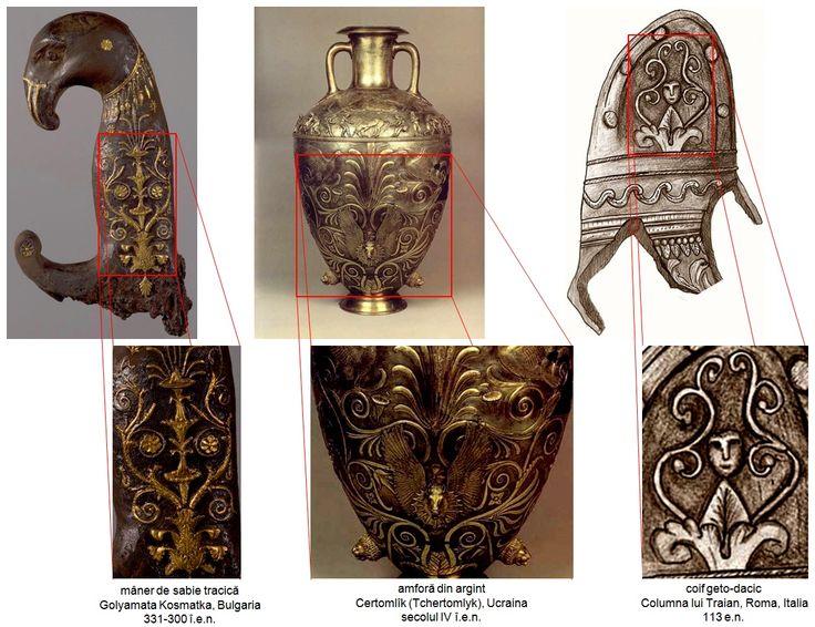 Ornamentica inspirată din misterul regenerării vegetaţiei, bazată pe simbolismul sacru al Pomului Vieţii din civilizaţia traco-geto-dacică.