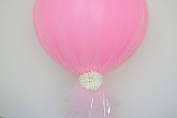 Воздушные шары, украшенные тюлем (Diy) / Праздничный декор / ВТОРАЯ УЛИЦА