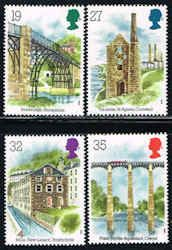 Architecture Stamps - Great Britain #1280-1283 Stamps - Industrial Archaeology Stamps - EU GB 1280 to 1283-1