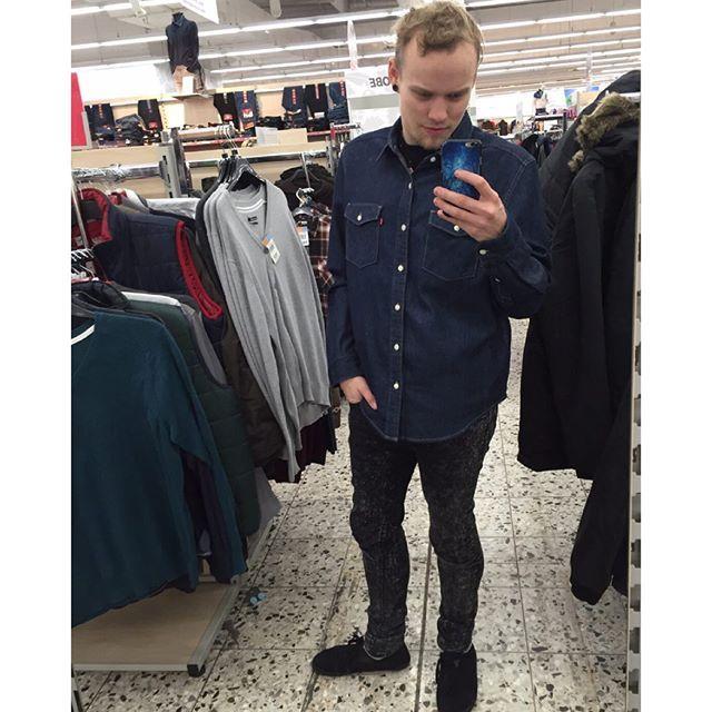 #ich #Mittwoch #einkaufen #levis #hemd #jeans # Röhrenjeans