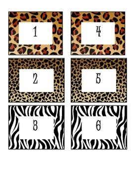 Animal Print Cubby Labels Use these animal print cub labels in your classroom. Can also be used for other purposes. Numbered from 1-24.