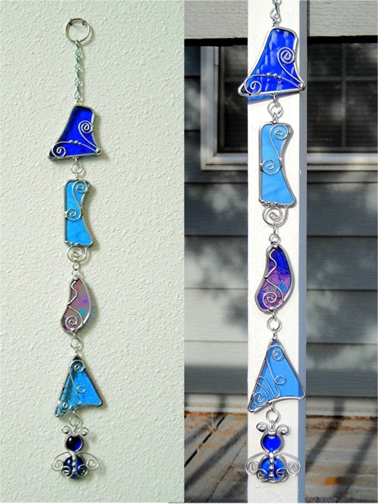 Of course, I would add a bell.JasGlassArt - Original Designs in Stained Glass: Stained Glass Dangler Patio or Garden Decor Suncatcher