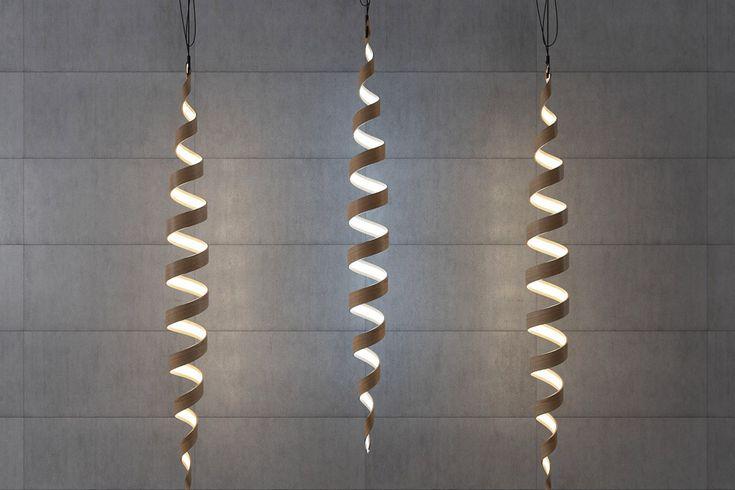 Дизайнерский подвесной светильник в виде спирали, фото http://goodroom.com.ua/mag/category/lighting/ #Interiors #lighting #lamp #design #Ukraine