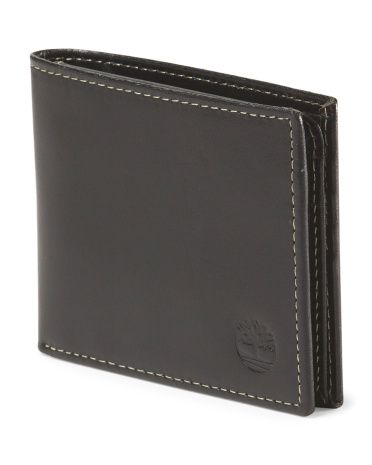 image of Leather Passcase Wallet - Timberland black