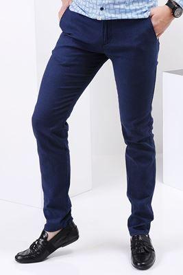 Detayları Göster Tırtıklı Mavi Pantolon