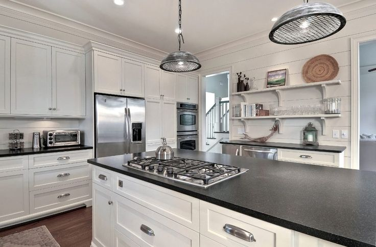 absolute black leather granite kitchen beach style with crown molding burner cooktops