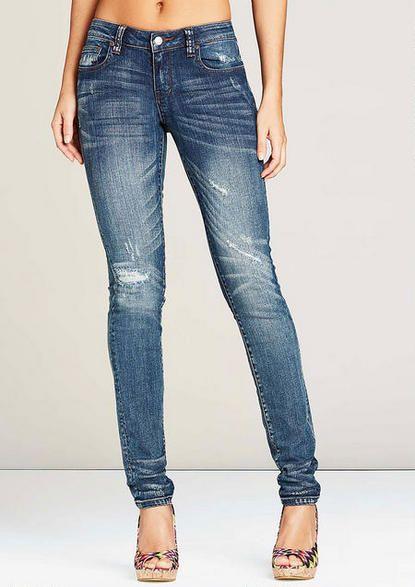 Revolt Distressed Skinny - Plus Size Jeans - Alloy Plus - Alloy Apparel