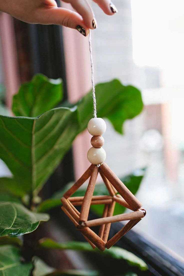 You can make a cinnamon stick himmeli to hang in your house with this easy DIY project.