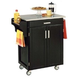 Home Styles 9001-0042 Small Cabinet Kitchen Cart, (kitchen cart, kitchen carts, kitchen island, kitchen carts on wheels, mobile kitchen cart, rolling kitchen carts, kitchen serving cart, kitchen table, metal kitchen carts, kitchen storage)