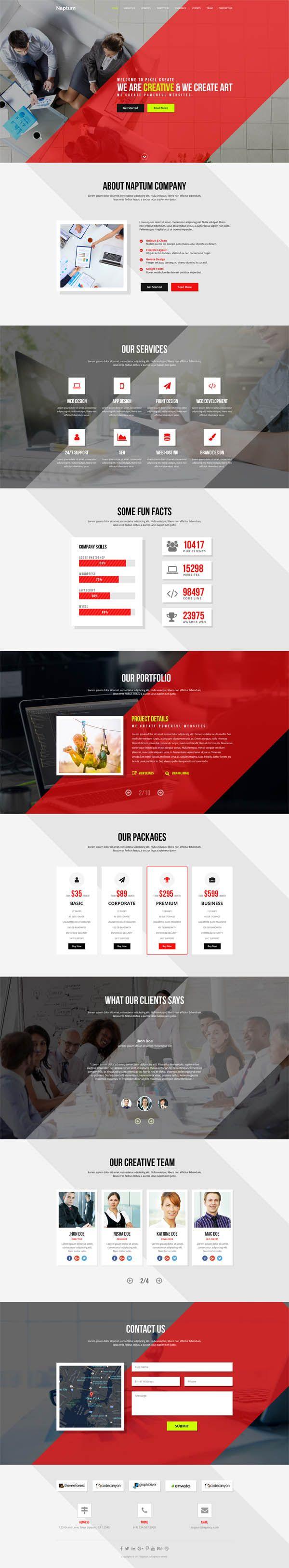 742 besten PSD Templates Bilder auf Pinterest | Blog-Designs ...