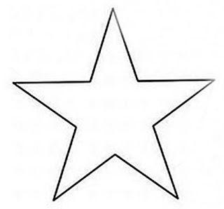 Lindos desenhos, moldes e riscos de estrelas para pintar, colorir, imprimir! Desenhos de estrela! - Espaço Educar desenhos para colorir