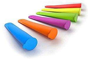Amazon.com: FoodWorks Silicone Ice Pop Maker Molds/Popsicle Molds, Set of 6: Freezer Molds: Kitchen & Dining