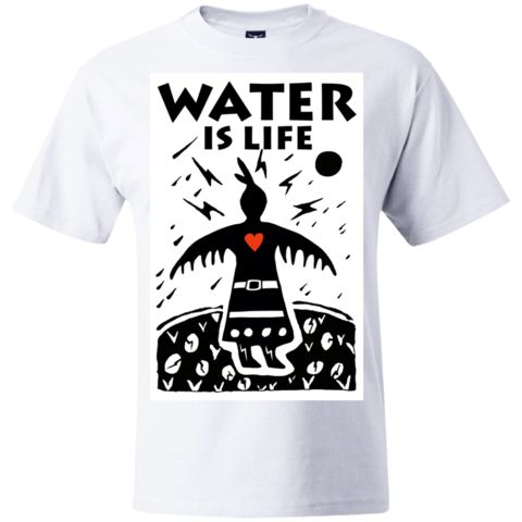 Water Is Life: Thunderbird Woman_Art by Isaac Murdoch_Create Your Own Hanes Beefy T