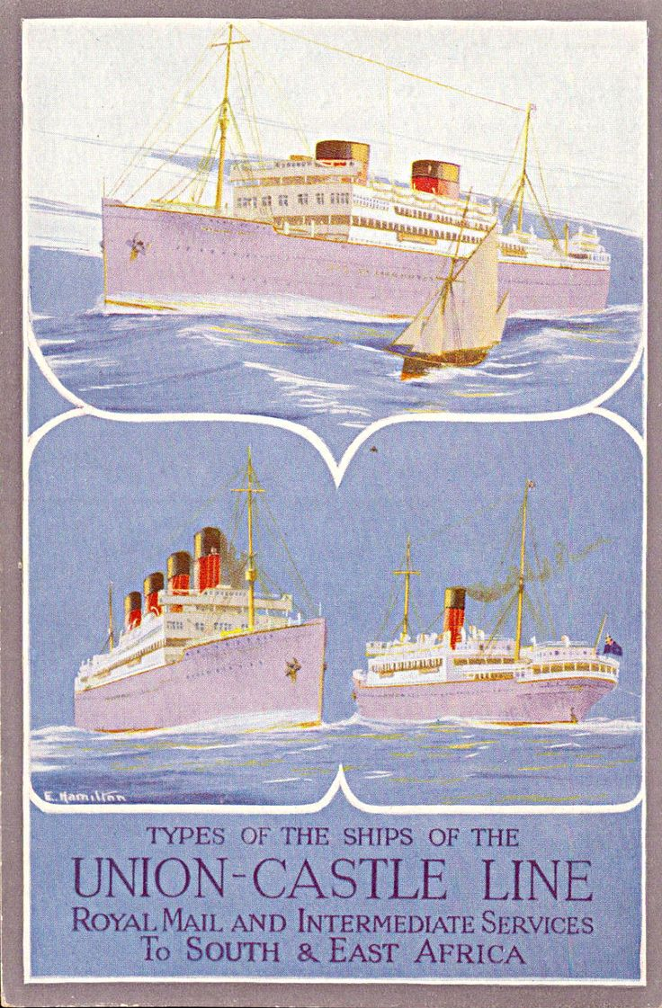 Union Castle Line Royal Mail to South & East Africa