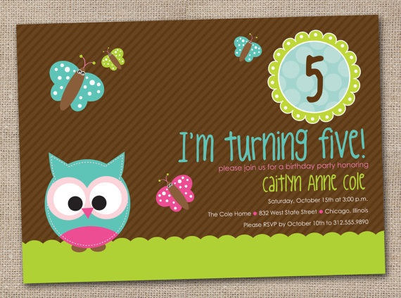 Girls Birthday Party Invitation Printable by InkObsessionDesigns,