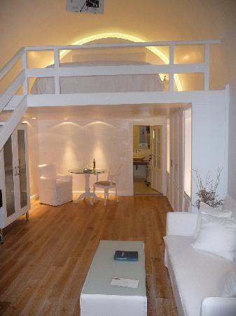 Katikies Hotel Loft Bedroom