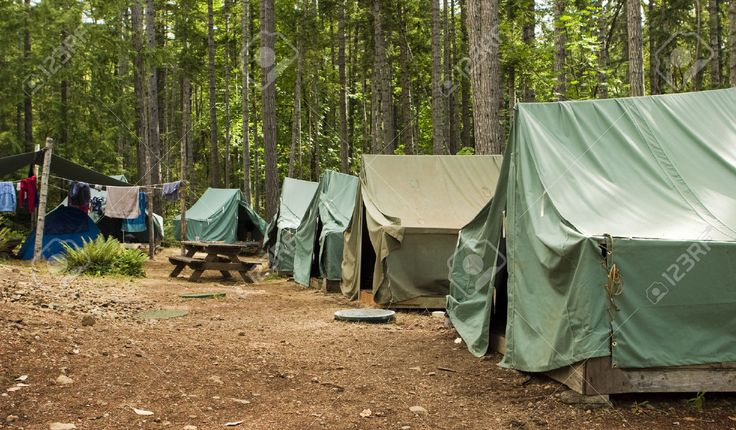 Boy Scout Campground. A Typical Campsite At A Boy Scout Camp ...