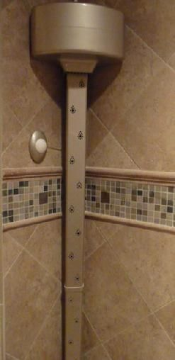 Tornado Body Dryer: Dry your entire body without a towel while still in your warm shower enclosure!