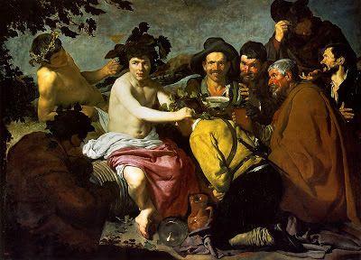 """""""El Triunfo de Baco"""" o """"Los Borrachos""""- Diego Velázquez"""