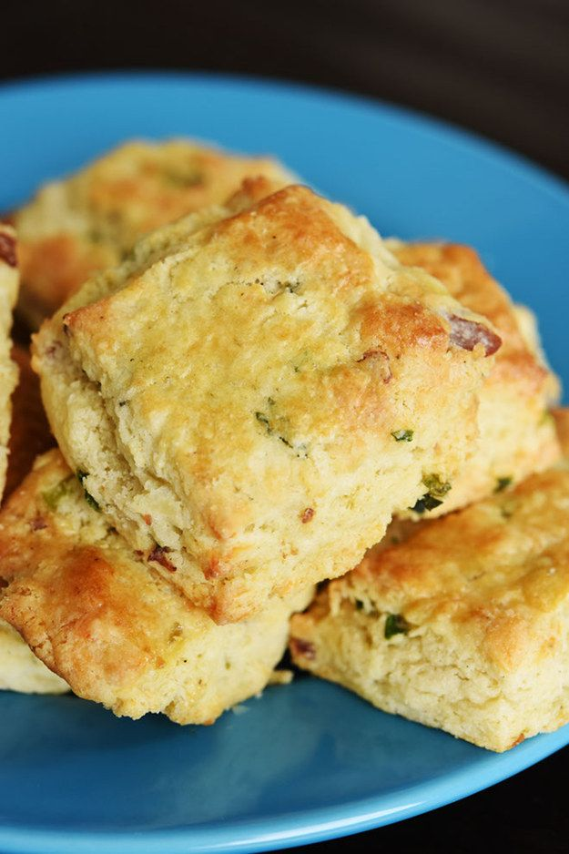 The biscuits are so full of savory bacon flavor, both from the bacon pieces and the fat. They taste great on their own.