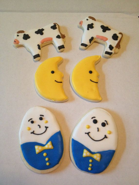 Nursery Rhyme Sugar Cookies by Just4YouTreats on Etsy, $24.00