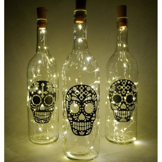 Light Up Bottle Decorative Bottles Wine Bottles Sugar