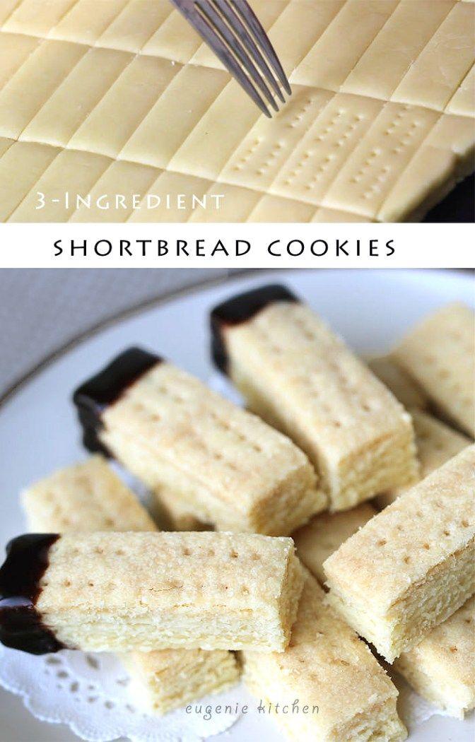 3-Ingredient Shortbread Cookie Recipe – Quick & Easy