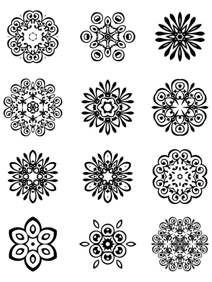 12 free unique decorative vector elements Edition #10