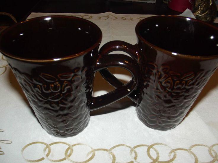 A set of Brown 12 oz  Kahlua coffee/Tea/Cocoa mugs design Pernot-Ricard