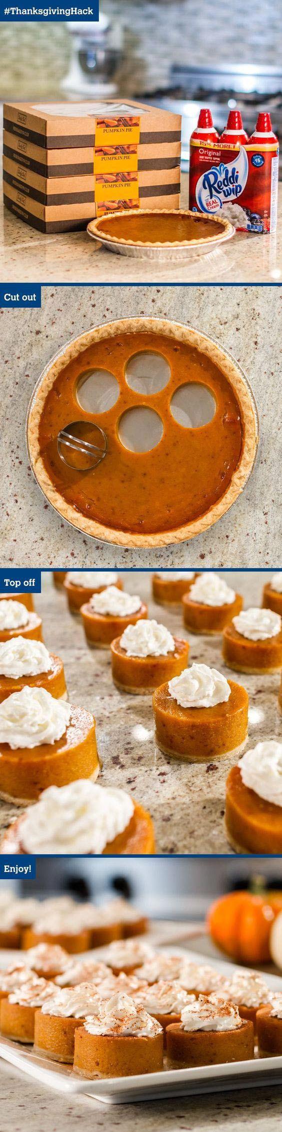 Pumpkin Pie Bites // Small Sweets for a Dessert Reception - weddingfor1000.com
