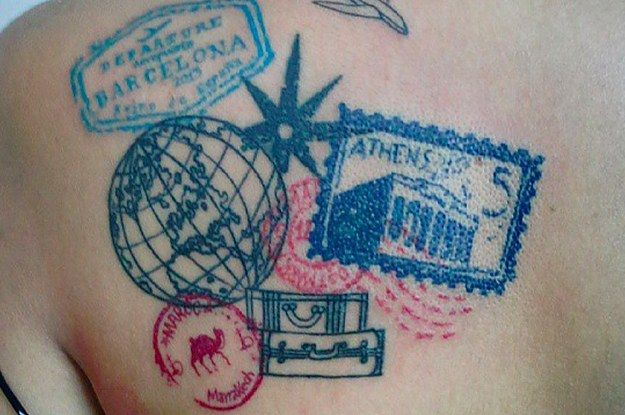 41 Beautiful Tattoos That Will Spark Your Travel Bug                                                                                                                                                                                 More
