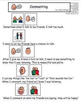 VISUAL SOCIAL STORY PACKET FOR CHILDREN WITH AUTISM: COMMUNICATION SET 1 - TeachersPayTeachers.com