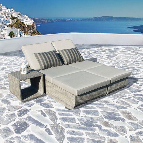 Urban 2 Piece Euro Lounger By Sirio Outdoor Furniture