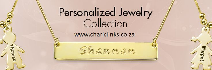 Personalized custom Name Necklaces in silver or gold, south africa | Charis Jewelry SA