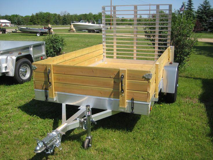 Aluminum Utility Trailer – UT Series – Wood Floor W/ Wood Sides