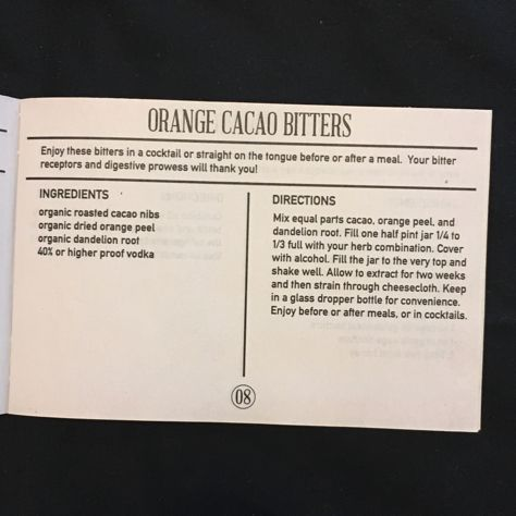 Mountain Rose Herbs: Orange Cacao Bitters