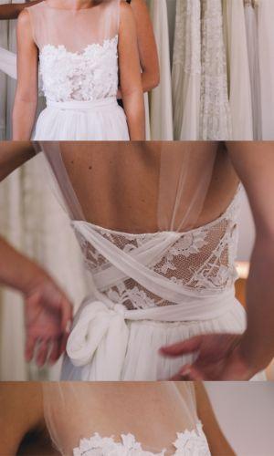 Boho lace wedding dress boho bride beach bride  Grace loves lace shop www.graceloveslace.com