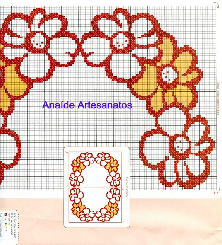 Anaide Ponto Cruz: Lindos gráficos para mesa quadrada!!!!!!bom dia!!!!!
