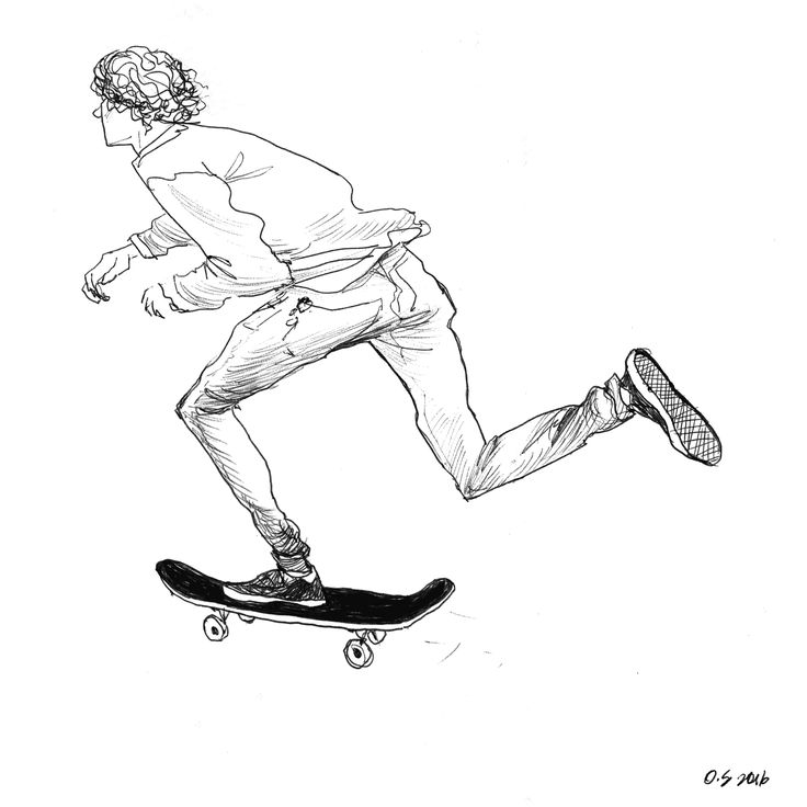 sketchbook. Skate. Illustration.