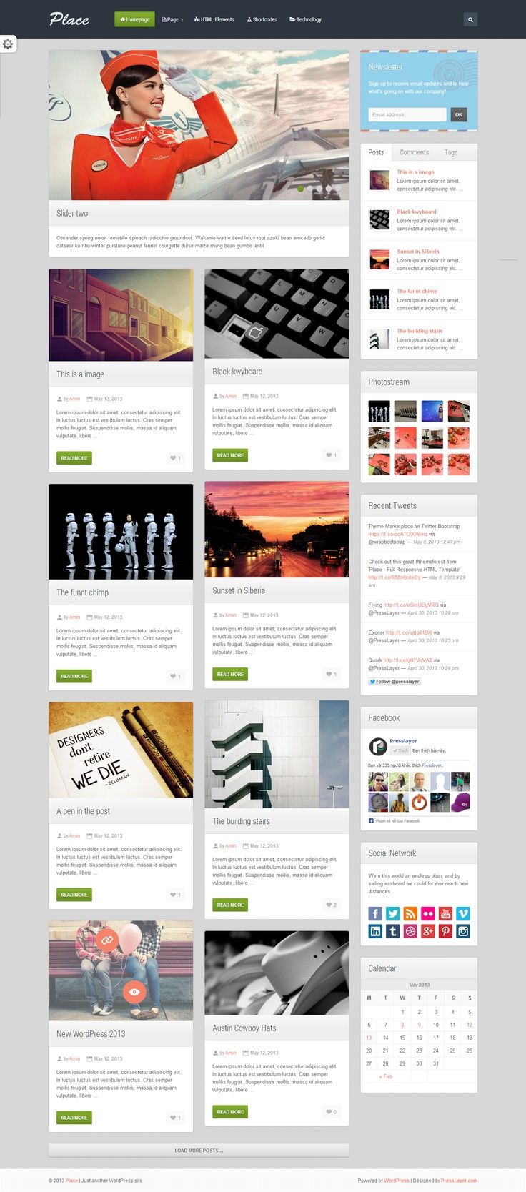 Place - Responsive Blogging WordPress Theme #wordpress #theme #website #template #responsive #design #webdesign #flat #blog #magazine #creative