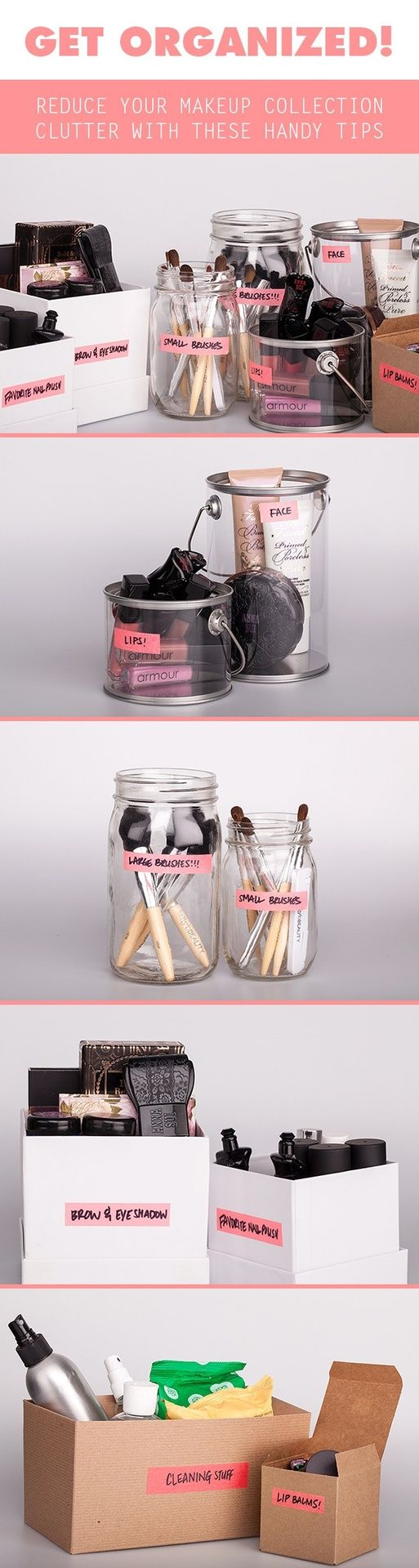 Get Organized! Cosmetics clutter and how to contain it