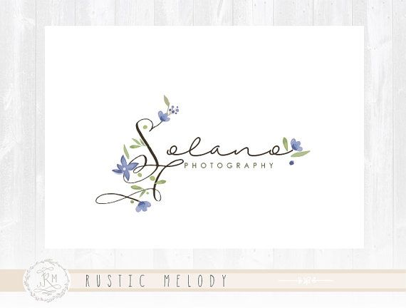 Floral Logo Design Events Logo Photography Logo Design Boutique Logo Rustic Logo Decor Logo Design Watermark
