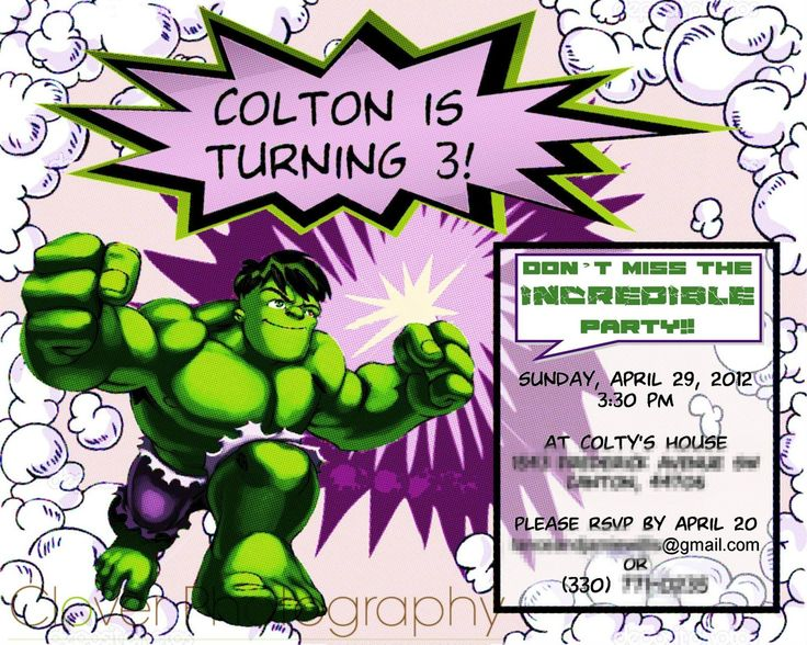 17 best images about 4 A OS FIESTA NEY – Hulk Party Invitations