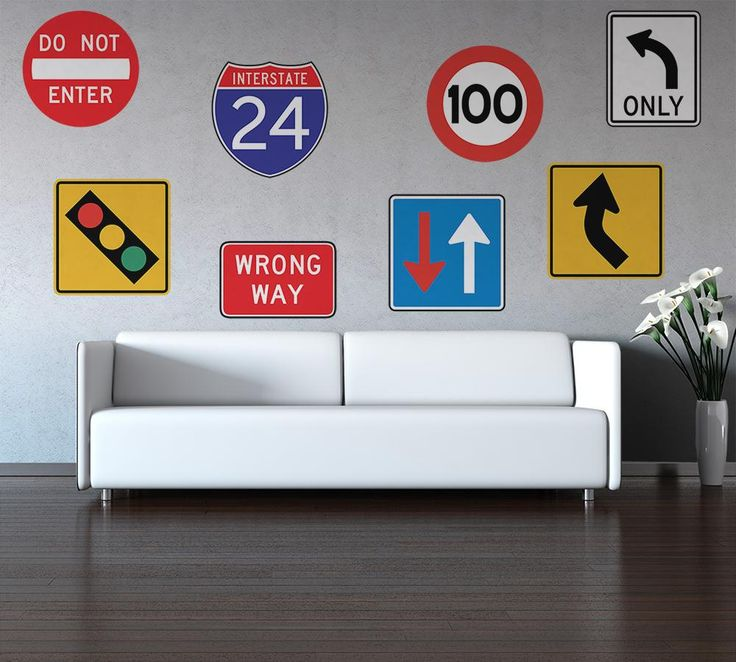 Road Sign Wall Decor Brilliant 65 Best Street Signs Images On Pinterest  For Kids Kids And Decorating Inspiration