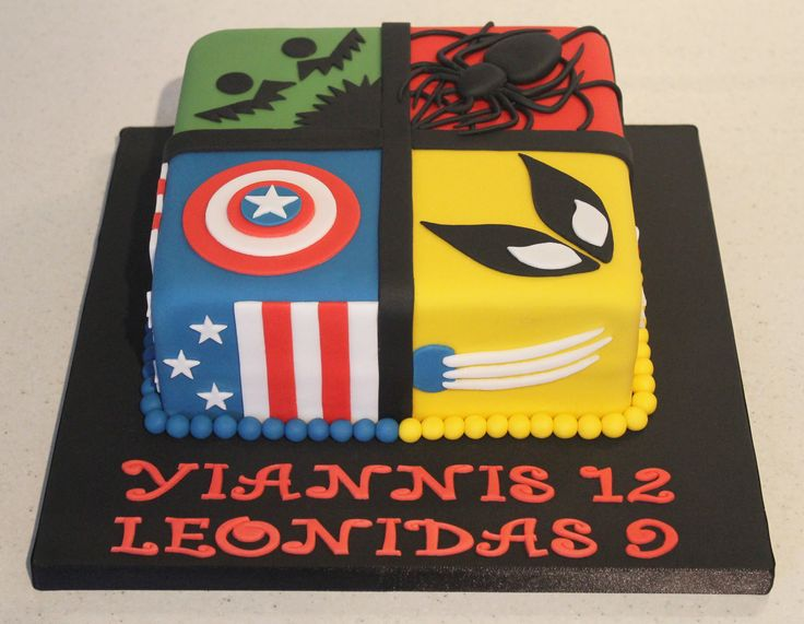 Marvel Birthday Cake Images