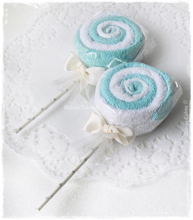 Cadeau baby shower lollipop aqua - Babys Cakes