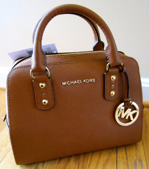 Michael Kors Small Satchel Saffiano Luggage Leather http://www.TravelBagsWorld.com