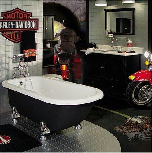 Salle de bain harley davidson sp cial pinterest for Decoration maison harley davidson