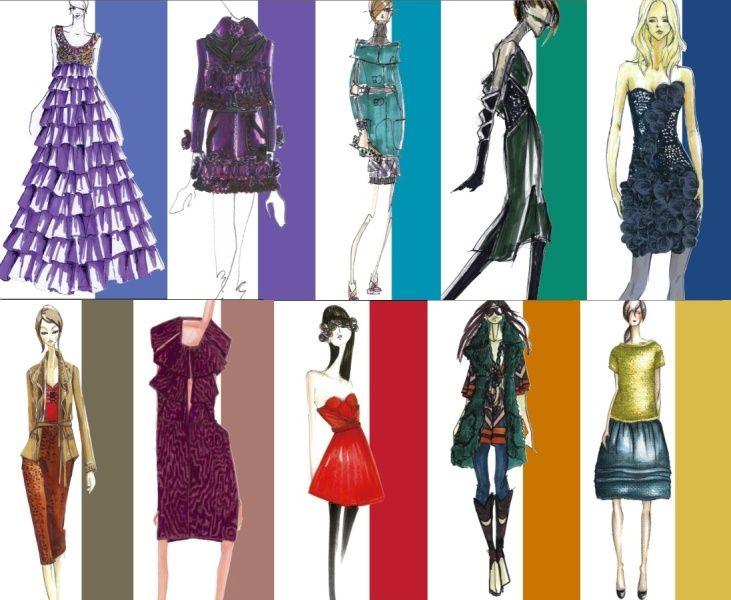 designer sketches for pantone fall 2008 report
