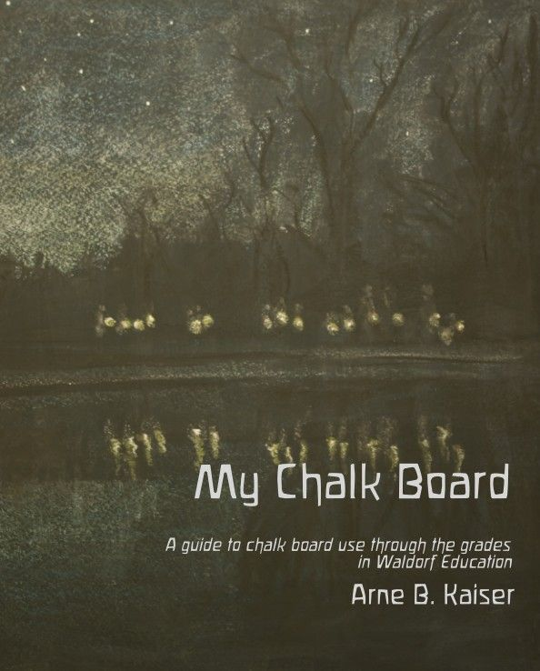 """This book offers a wealth of background information and examples regarding chalkboard use in the Waldorf (Steiner) schools. It comes with more than 100 color examples of blackboard drawings and helpful guidelines and thoughts on work with grades 1 through 8. It is an indispensable inspiration and reference for the Waldorf teacher or homeschooling initiative."""